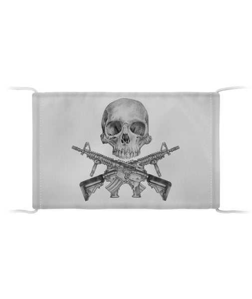 Skull and Crossed Rifles Cloth Face Mask