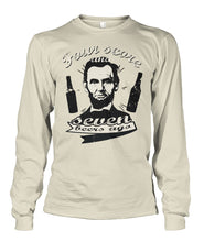 Load image into Gallery viewer, Four Score and Seven Beers Ago - Lincoln Drinking Long Sleeve Shirt