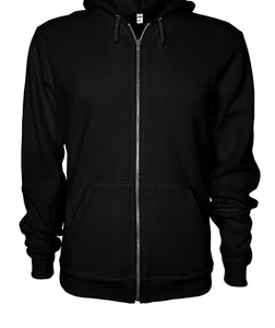 It's Because I'm Black Isn't It Zip Up Hoodie Gildan Zip-Up Hoodie- Image on Back