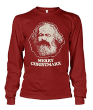 Load image into Gallery viewer, Merry Christmarx - Karl Marx Long Sleeve Unisex Long Sleeve