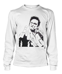 Johnny Cash - Middle Finger Long Sleeve