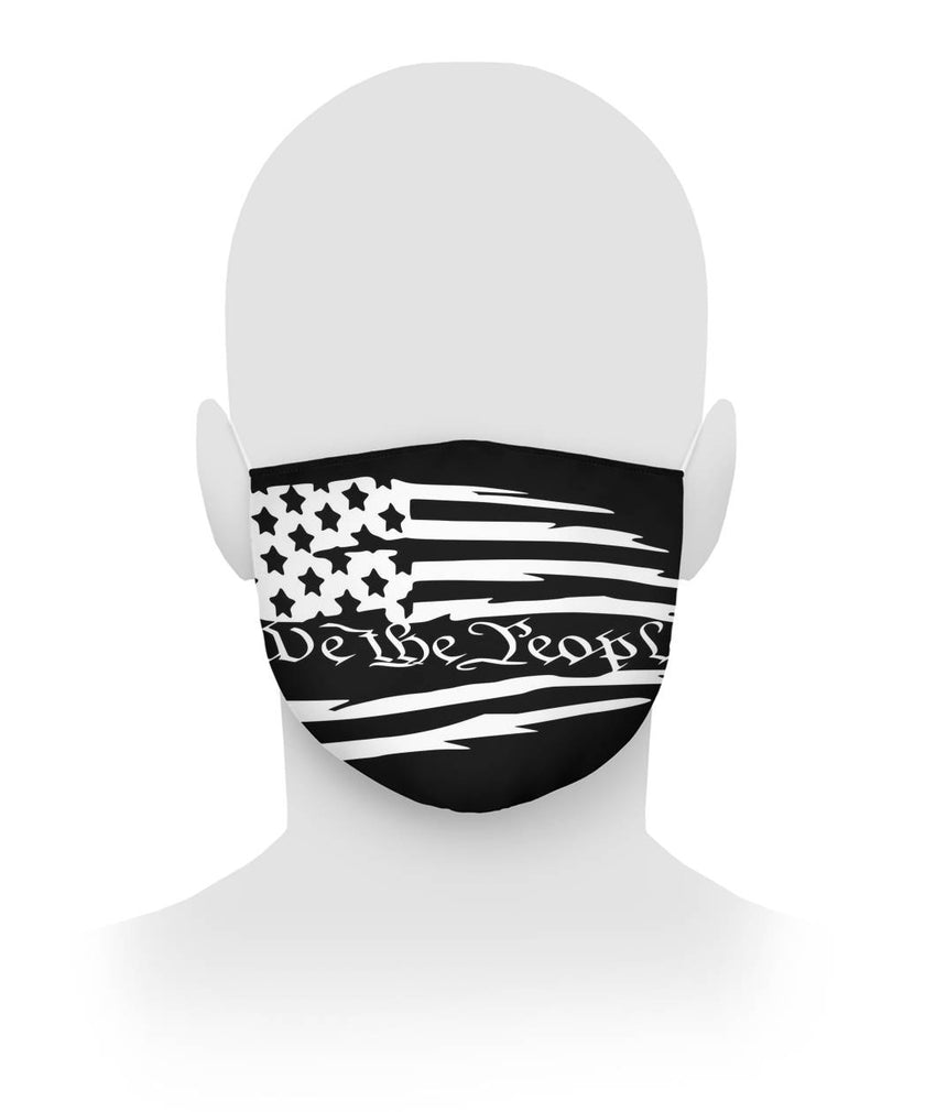 We The People Tattered Flag Face Mask
