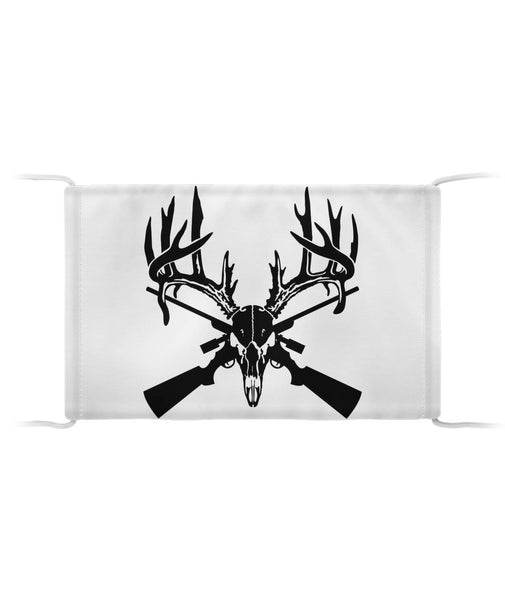 Deer Skull with Crossed Rifles Cloth Face Mask