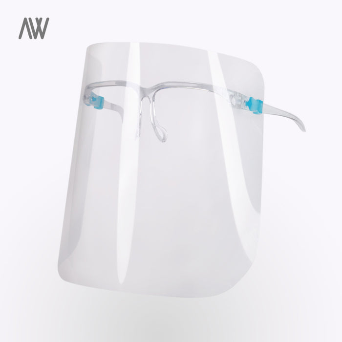face shield, glasses face shield, face protection, washable face shield