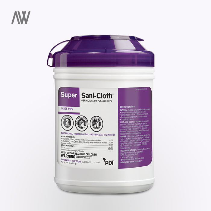 Super Sani-Cloth Surface Disinfectant Germicidal Wipes - WHOLESALE PRICING | AWD Protective Gear