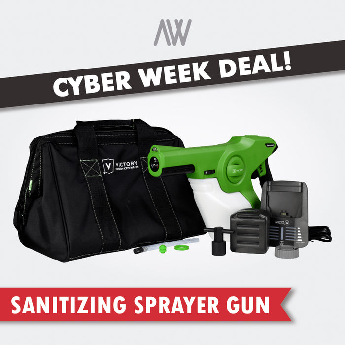 Victory Electrostatic Sprayer + 4 Gallons Disinfectant Solution BUNDLE | AWD Protective Gear