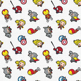 Marvel Kawaii Action Toss - Printed Flannel by Marvel