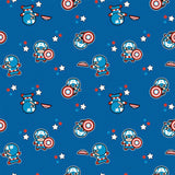 Captain America Kawaii - Printed Flannel by Marvel - White