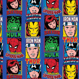Marvel Comics Heroes - Printed Fleece by Marvel Comics - Blue