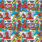Spider-Man Comic Strip - Printed Flannel by Marvel Comics- Bright