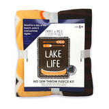 EMMA & MILA - Lake Life - No Sew Throw - Fleece-Brown
