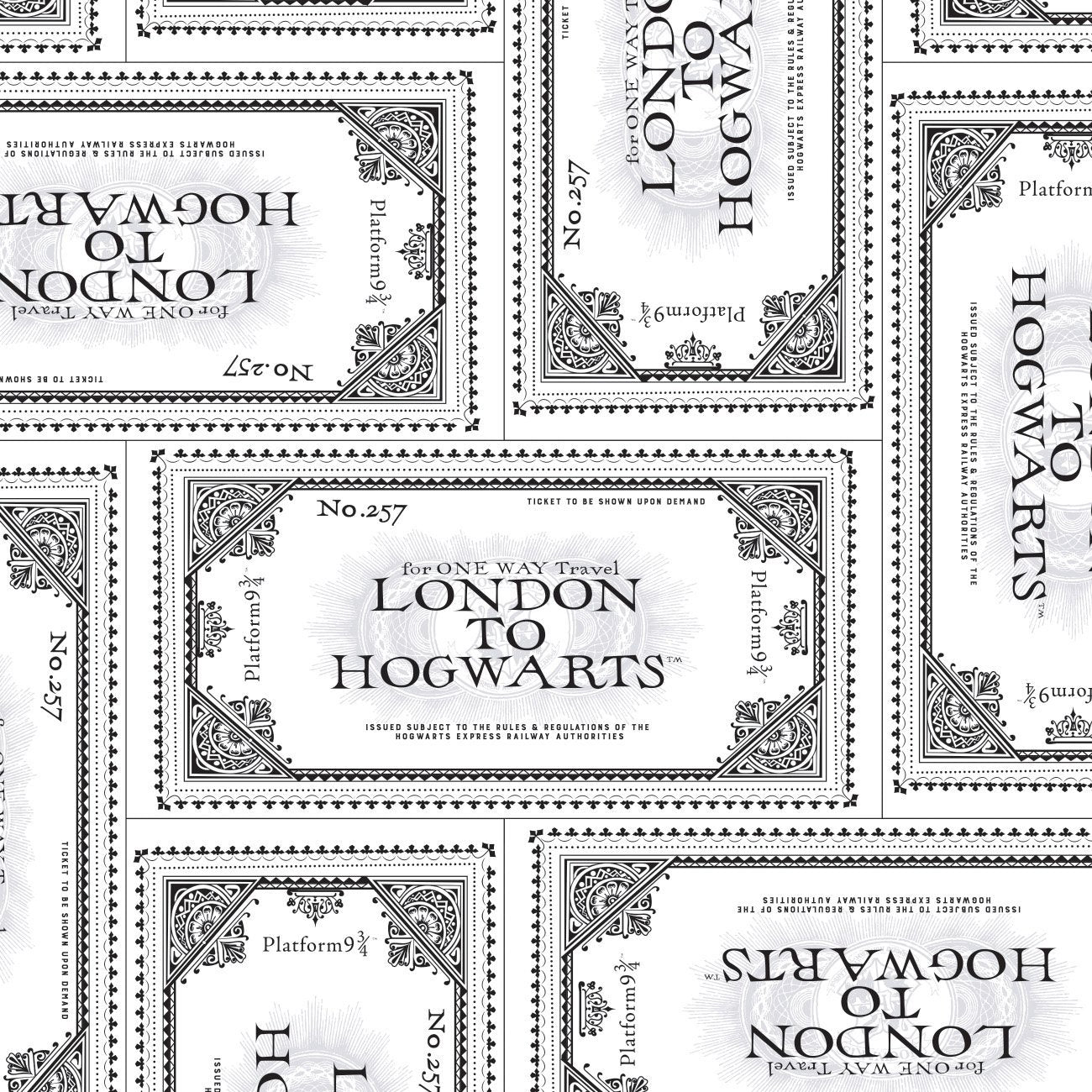 Wizarding World - Harry Potter Collection - Harry Potter Ticket To Hogwarts Cotton