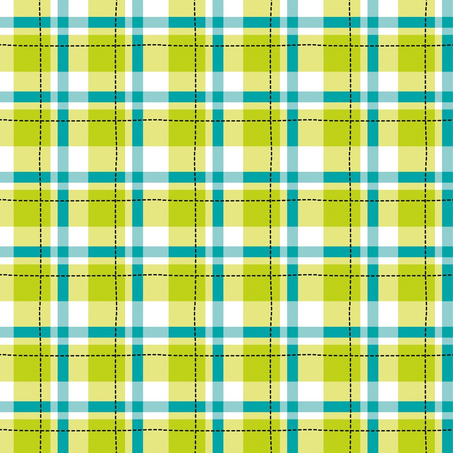 Game On by Elizabeth Silver - Plaid - Lime