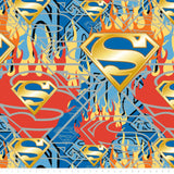 Superman - Shield in Flames - Printed Fleece by DC Comics