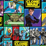 The Clone Wars - Bright Block - Printed Fleece by Lucasfilm Star Wars