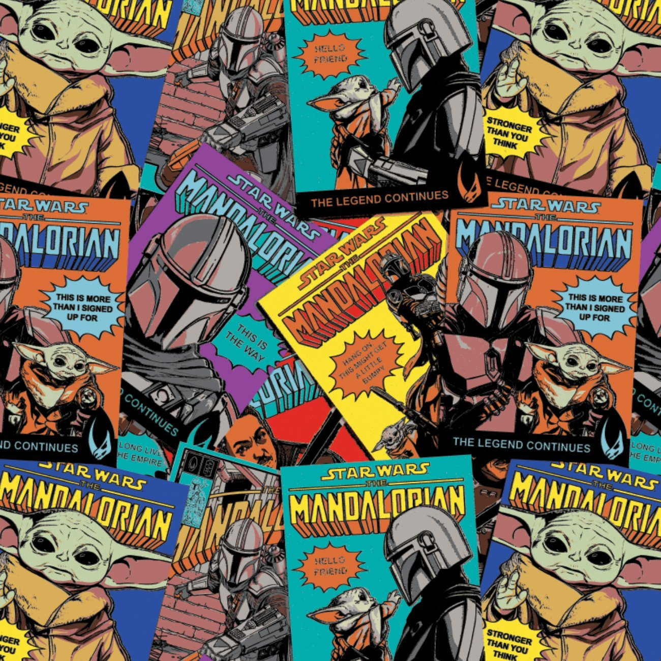 Star Wars - The Mandalorian - Comic Posters - Multi