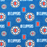 LA Clippers Allover - Printed Fleece by NBA