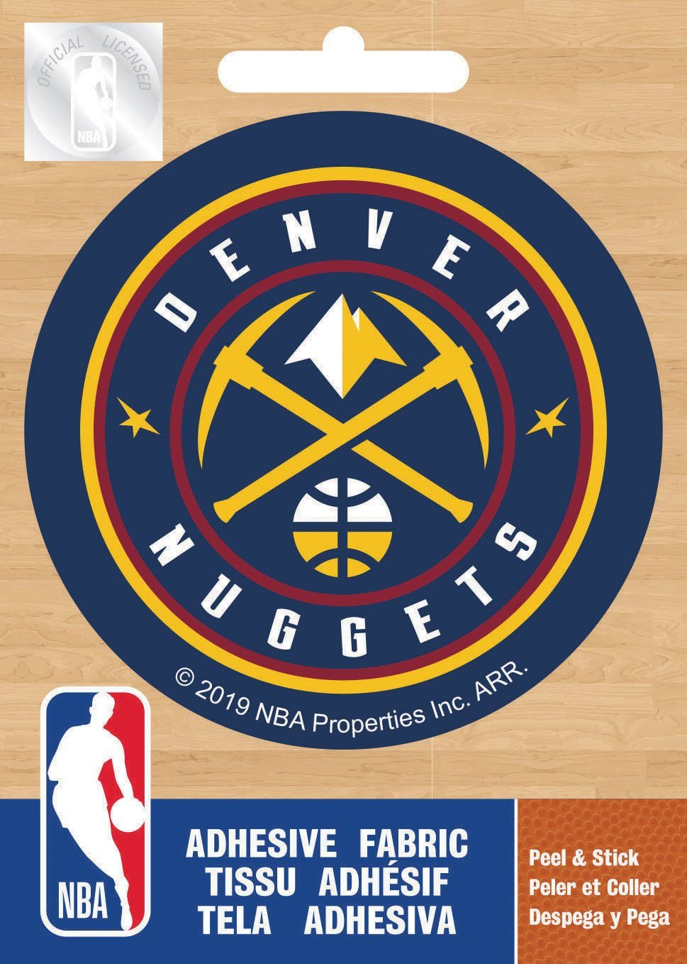 NBA Denver Nuggets Logo On Solid Adhesive Fabric Badge