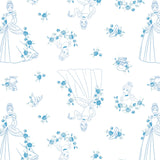 Disney Forever Princess Collection - Cinderella Toile - Blue