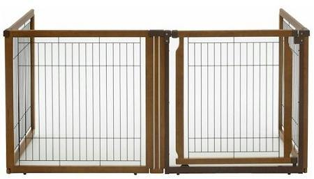 4 Panel Convertible Elite Pet Gate - DOGSWAGI