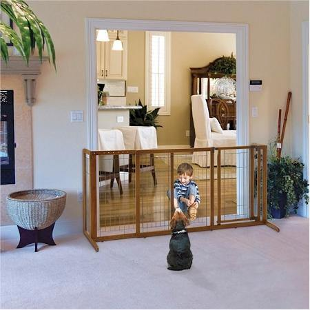 Deluxe Freestanding Pet Gate - DOGSWAGI