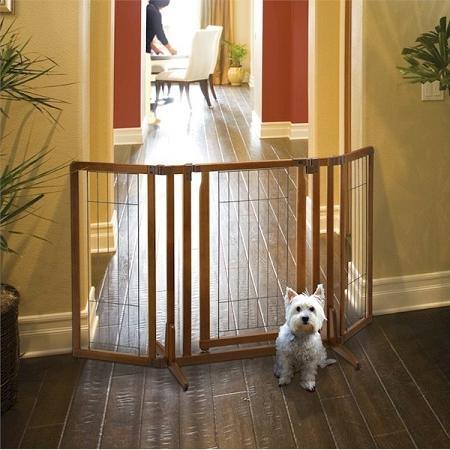 Premium Plus Freestanding Pet Gate with Door - DOGSWAGI