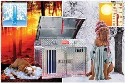 Image of Hunter Series Double Compartment Dog Box Tall- All Season Vents w/o Storage - DOGSWAGI