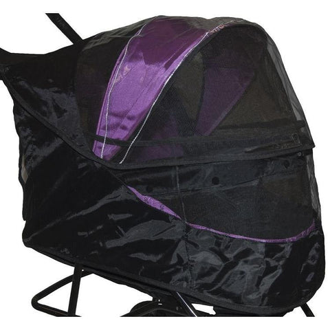 Weather Cover for Special Edition No-Zip Pet Stroller - Black - DOGSWAGI