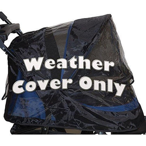 Weather Cover for No-Zip Jogger & AT3 Pet Stroller - Black - DOGSWAGI