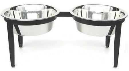 Visions Double Elevated Dog Bowl - DOGSWAGI