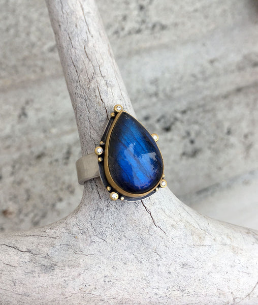 Spectrolite Ring by Ananda Khalsa