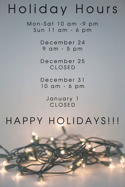 Holiday hours at Silverado Portland