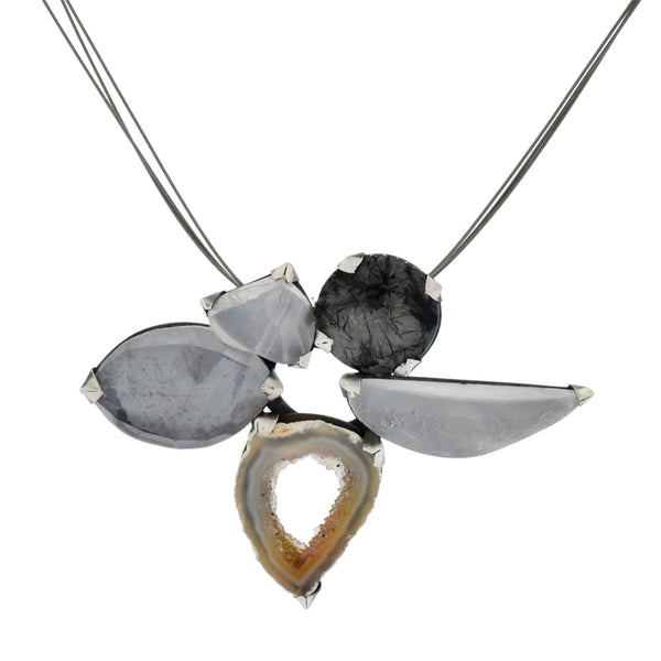 Terri Logan Lotus Necklace at Silverado Portland Jewelry