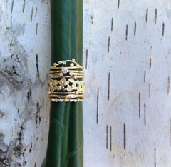 Textured Band in Gold