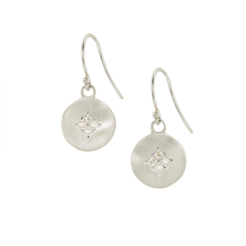 Diamond Four Star Wave Earrings