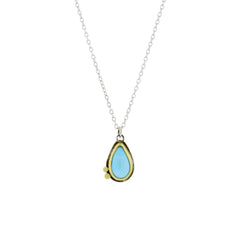 Turquoise Necklace with 22K Gold and Sterling Silver