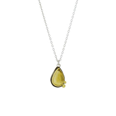 Citrine Necklace with 22K Gold and Sterling Silver