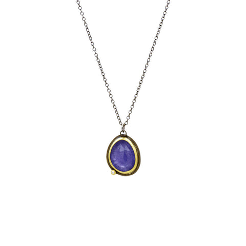 Tanzanite Necklace with 22K Gold and Diamond