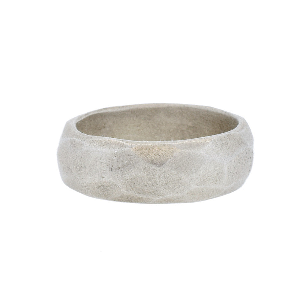 Men's Faceted Ring in Sterling Silver