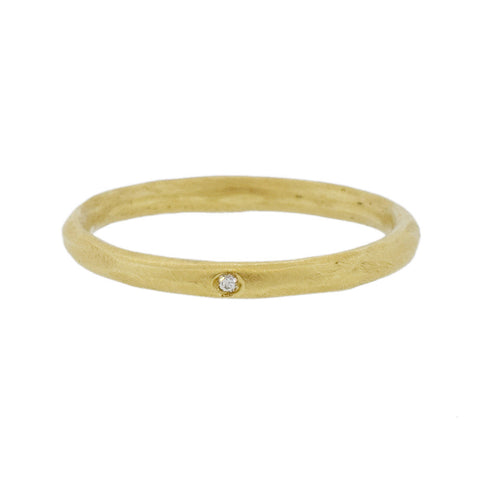 Simple Gold Band with Diamond