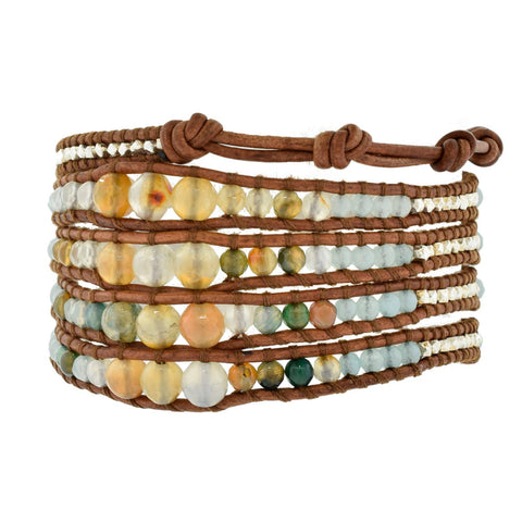 Chan Luu Wrap Bracelet with Natural Mixed Stones