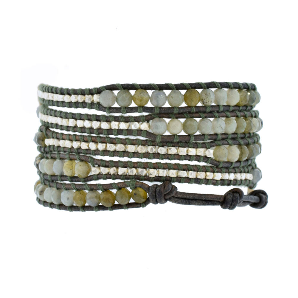 Chan Luu Wrap Bracelet With Labradorite And Silver