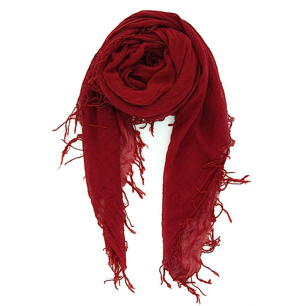 Biking Red Silk & Cashmere Scarf