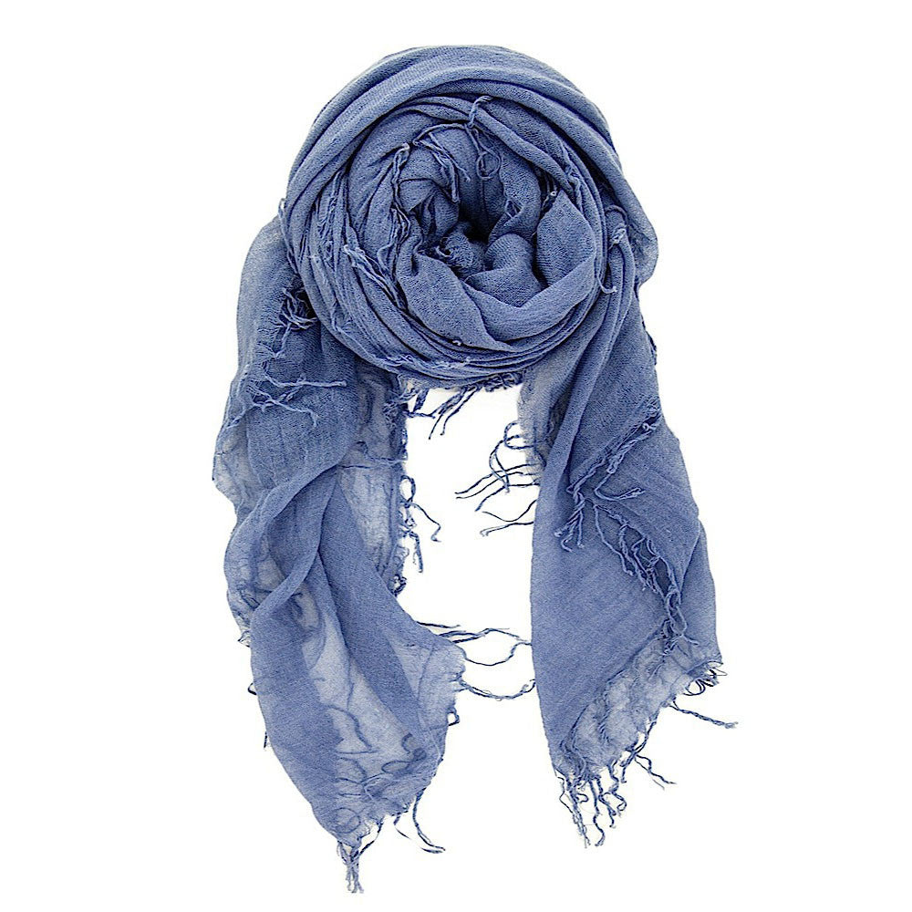 Cloud Grey Silk & Cashmere Scarf