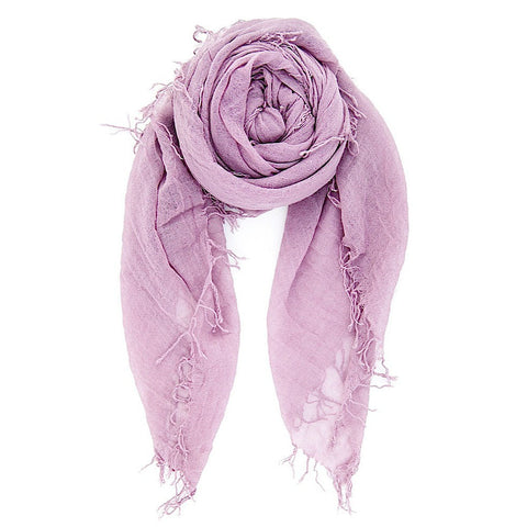 Light Purple Silk & Cashmere Scarf