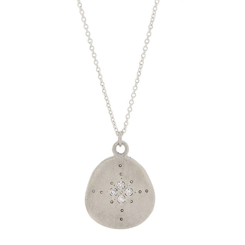 Organic Four Star Necklace with Champagne Diamonds