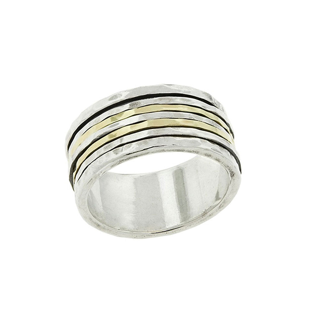Two-Tone Five Band Ring