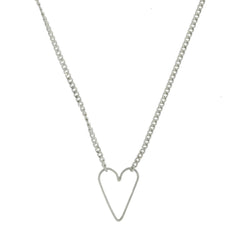 Sweetie Heart Necklace, Sterling Silver
