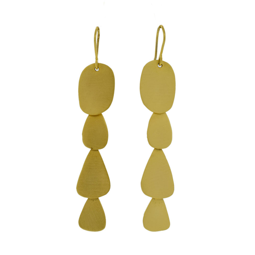 Abstract Cascade Earrings in Gold Tone