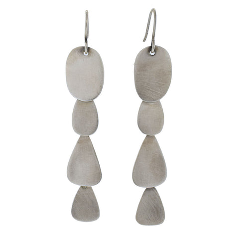 Abstract Cascade Earrings in Sterling Silver